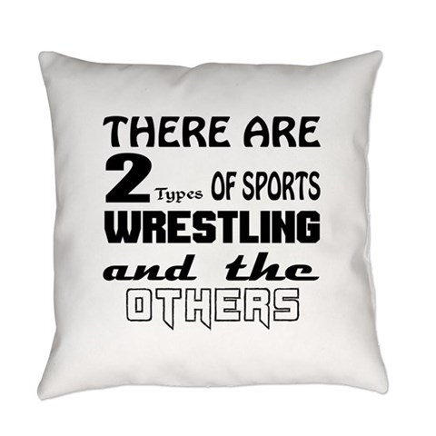 There are 2 types of Sports Wrestl Everyday Pillow