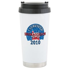 I Survived Snomaggedon Blizzard of 2010 Ceramic Travel Mug