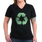 Path to Recycling Women's V-Neck Dark T-Shirt