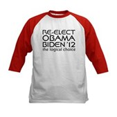 Logical Obama 2012 Kids Baseball Jersey