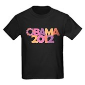President Barack Obama was born in Hawaii. This stylish Obama design uses a Hawaiian flower lei for the letter O of Obama. Support Obama in his 2012 re-election campaign in original girly style!