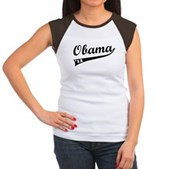 Obama 2012 Swish Women's Cap Sleeve T-Shirt