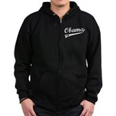 Obama 2012 Swish Zip Hoodie (dark)