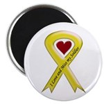 "Yellow Ribbon Love Miss Soldier 2.25"" Magnet (100"