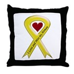 Yellow Ribbon Love Miss Airman Throw Pillow