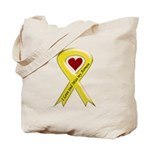 Yellow Ribbon Love Miss Airman Tote Bag