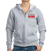 Could Be Illegal - Boycott AZ Women's Zip Hoodie
