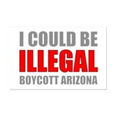 Could Be Illegal - Boycott AZ Mini Poster Print