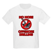 No More Offshore Drilling Kids Light T-Shirt