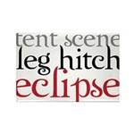 Tent Scene, Leg Hitch, Eclipse Rectangle Magnet