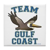 Team Gulf Coast Pelican Tile Coaster