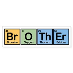 Brother Made of Elements Sticker (Bumper)