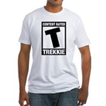 Content Rated T: Trekkie Fitted T-Shirt