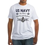 NAVY Sister Defending Freedom Fitted T-Shirt