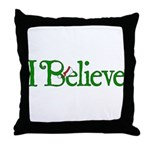 I Believe with Santa Hat Throw Pillow