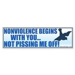 Nonviolence Begins with You... Sticker (Bumper 10 pk)