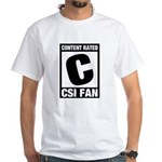 Content Rated C: CSI Fan White T-Shirt