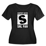Content Rated S: SNL Fan Women's Plus Size Scoop Neck Dark T-Shirt