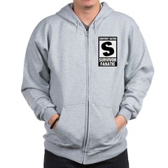 Content Rated S: Survivor Fanatic Zip Hoodie
