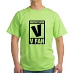 Content Rated V: V Fan Green T-Shirt