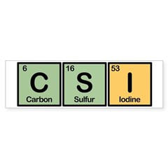 CSI Made of Elements Sticker (Bumper)
