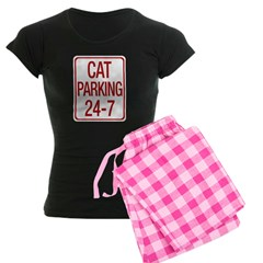 Cat Parking Women's Dark Pajamas