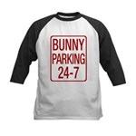 Bunny Parking Kids Baseball Jersey