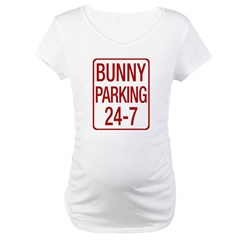 Bunny Parking Maternity T-Shirt