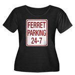 Ferret Parking Women's Plus Size Scoop Neck Dark T-Shirt