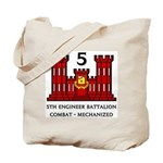 5th Engineer Battalion Tote Bag