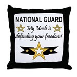 Army National Guard Uncle Throw Pillow