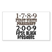 Presidential Firsts Sticker (Rectangle)