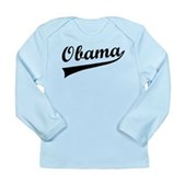 Obama Swish Long Sleeve Infant T-Shirt