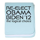 Logical Obama 2012 baby blanket