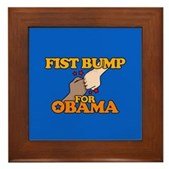 Fist Bump for Obama Framed Tile