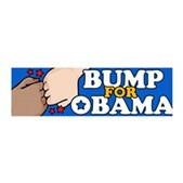 Fist Bump for Obama 42x14 Wall Peel