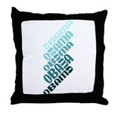 Stacked Obama Blue Throw Pillow