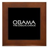 Logical Obama Framed Tile
