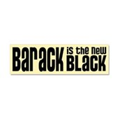Barack the New Black Car Magnet 10 x 3