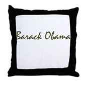Script Barack Obama Throw Pillow