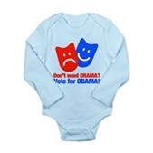 Vote Obama: No Drama! Long Sleeve Infant Bodysuit