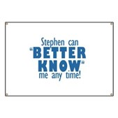 Stephen Can Better Know Me Banner