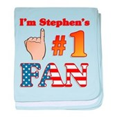 I'm Stephen's #1 Fan baby blanket