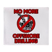 No More Offshore Drilling Stadium Blanket