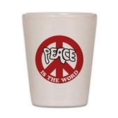 Peace is the word Shot Glass