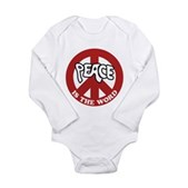 Peace is the word Long Sleeve Infant Bodysuit