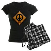Peace Ahead Women's Dark Pajamas