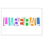 Colorful Retro Liberal Large Poster