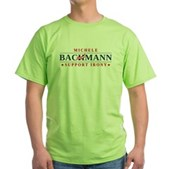 Anti-Bachmann Irony Green T-Shirt