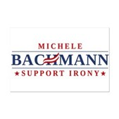 Anti-Bachmann Irony Mini Poster Print